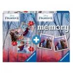 Ravensburger-03032 3 Puzzles + Memory - La Reine des Neiges II