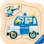 Ravensburger-03234 Puzzle en Bois - Police Allemande