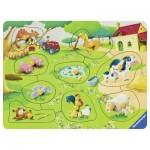 Ravensburger-03683 Puzzle en Bois - Animaux de la Ferme