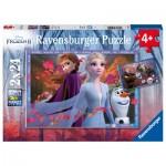 Ravensburger-05010 2 Puzzles - La Reine des Neiges II