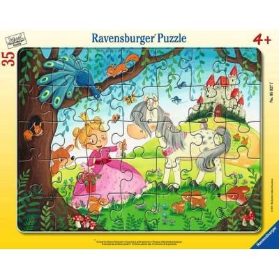 Ravensburger-05027 Puzzle Cadre - Monde de la petite Princesse