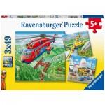 Ravensburger-05033 3 Puzzles - Au-dessus des Nuages