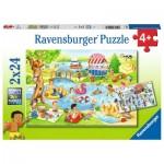 Ravensburger-05057 2 Puzzles - Loisirs au Lac