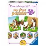 Ravensburger-05072 9 Puzzles - Les Animaux de la Ferme