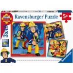 Ravensburger-05077 3 Puzzles - Sam le Pompier