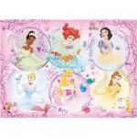 Ravensburger-05296 Puzzle Géant - Portrait des Princesses Disney
