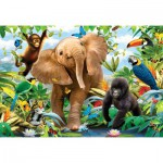Ravensburger-05347 Puzzle Géant de Sol - La Jungle
