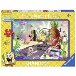 Ravensburger-05473 Puzzle Géant de Sol - Bob l'Eponge