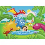 Ravensburger-05611 My First Outdoor Puzzles - Dinosaures