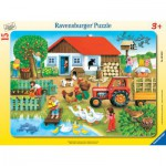 Ravensburger-06020 Puzzle Cadre - Ferme