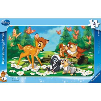 Ravensburger-06039 Puzzle cadre - Bambi et ses amis