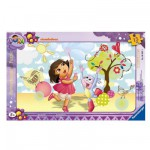 Ravensburger-06042 Puzzle cadre - Dora s'amuse