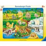 Ravensburger-06052 Puzzle cadre - Visite au zoo