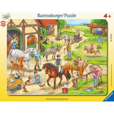 Ravensburger-06164 Puzzle Cadre - Au Centre Equestre