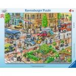 Ravensburger-06172 Puzzle Cadre - Voyage en Ville