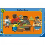 Ravensburger-06308 Puzzle Cadre - Petit Ours Brun au Marché