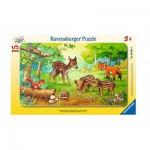 Ravensburger-06376 Puzzle Cadre - Bébés Animaux de la Forêt