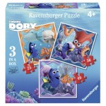 Ravensburger-06884 3 Puzzles - Finding Dory