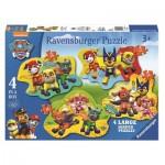 Ravensburger-06911 4 Puzzles - Paw Patrol