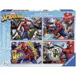 Ravensburger-06914 4 Puzzles - Spider-Man