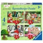 Ravensburger-06945 4 Puzzles - Contes et Légendes