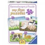 Ravensburger-06953 4 Puzzles - Animaux de la Ferme