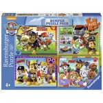 Ravensburger-06964 4 Puzzles - Pat Patrouille