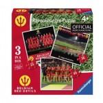 Ravensburger-06968 3 Puzzles - Belgian Red Devils