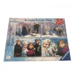 Ravensburger-06992 Bumper Pack 4 Puzzles - La Reine des Neiges