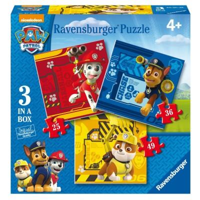 Ravensburger-07057 3 Puzzles - Pat' Patrouille