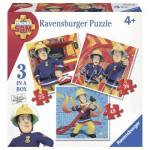 Ravensburger-07065 3 Puzzles - Sam le Pompier