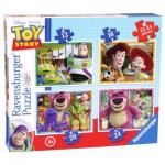 Ravensburger-07108 4 Puzzles - Toy Story