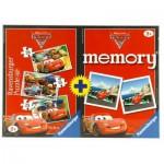 Ravensburger-07227 3 Puzzles + 1 Mémory 48 pièces - Cars