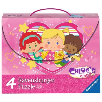 Ravensburger-07353 4 Puzzles - Chloé