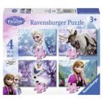 Ravensburger-07360 4 Puzzles - La Reine des Neiges