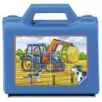 Ravensburger-07432 Puzzle Cubes - Véhicules de la Ferme