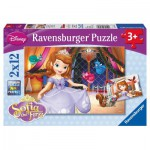 Ravensburger-07570 2 Puzzles - Disney Princesse Sofia