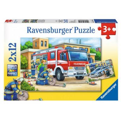Ravensburger-07574 Pompiers et Policiers