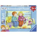 Ravensburger-07588 2 Puzzles - Goya dehors