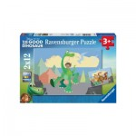 Ravensburger-07595 2 Puzzles - The Good Dinosaur