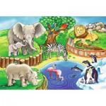 Ravensburger-07602 2 Puzzles - Animaux du Zoo