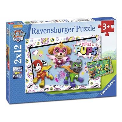 Ravensburger-07613 2 Puzzles - Pat' Patrouille