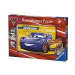 Ravensburger-07614 2 Puzzles - Cars 3