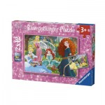 Ravensburger-07620 2 Puzzles - Disney Princess