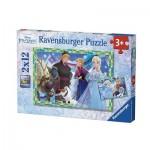 Ravensburger-07621 2 Puzzles - La Reine des Neiges
