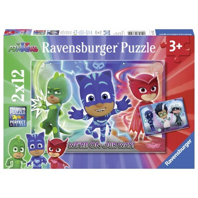 Ravensburger-07622 2 Puzzles - Pyjamasques