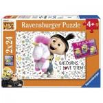Ravensburger-07811 2 Puzzles - Minions