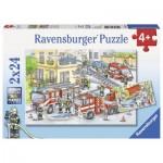 Ravensburger-07814 2 Puzzles - Héros en Action