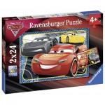 Ravensburger-07816 2 Puzzles - Cars 3