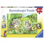 Ravensburger-07820 2 puzzles - Mignons Koalas et Pandas